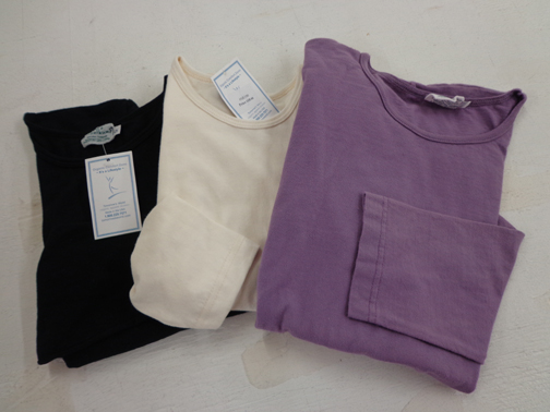 Set of Two Ladies Long Sleeve Tee - M - Natural
