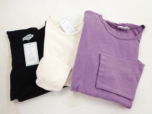 Set of Two Ladies Long Sleeve Tee - XS - Natural