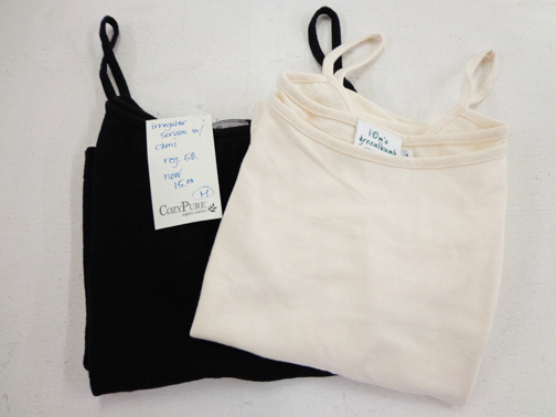 Set of Two Womens Cami - L - Natural
