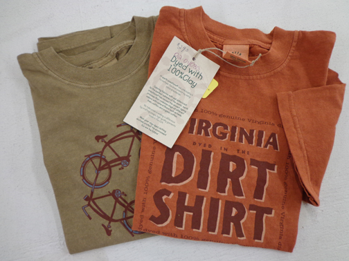Set of Two Kids Virginia Dirt Shirt Tees - S - Clay