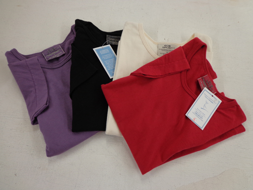 Set of Two Short Sleeve Scoopneck Tees - XS - Natural
