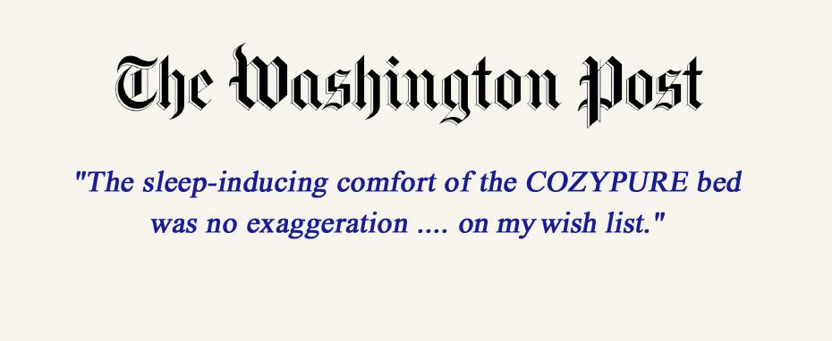 Washington Post CozyPure organic mattress review