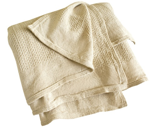 Organic Cotton Loomed Blanket