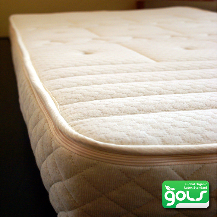 "7"" Organic Comfort zone Mattress- made with 100% Organic Zoned Latex"
