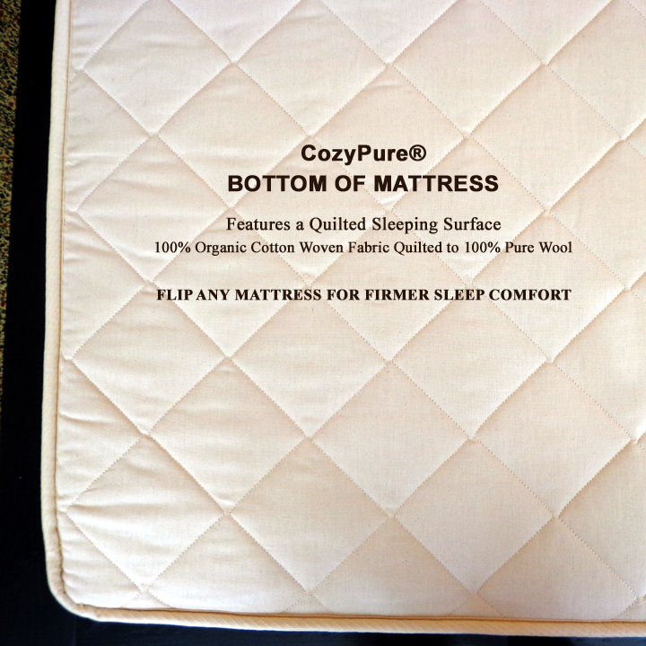 "12"" Pure Performance PERFECTION Natural Latex Organic Mattress Progressive Support Zoned 6"" Core + 3"" Medium + 2"" Sculpted"