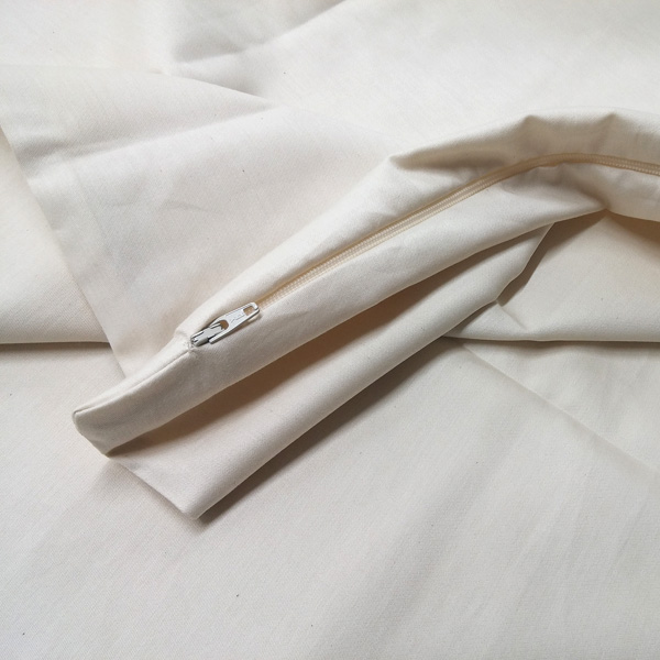Zippered Organic Cotton Pillow Protectors