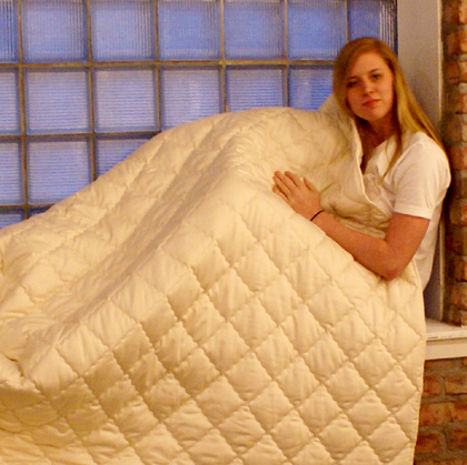 CozyPure Quilted Wool Comforter