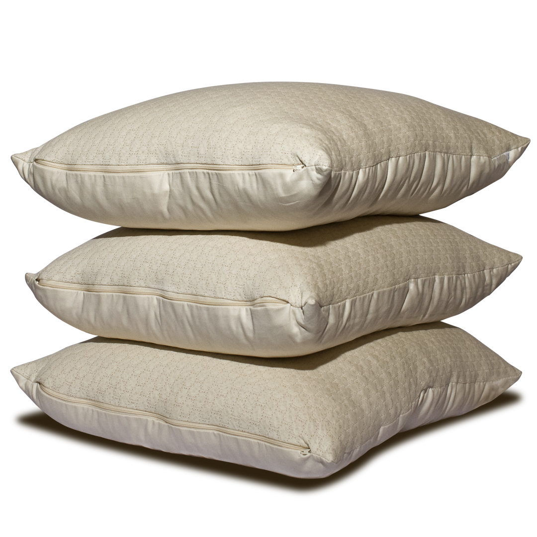 Pure Performance LaNoodle Latex Pillow custom-fill with zipper