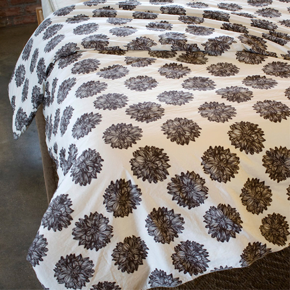 Dahlia Organic Cotton Duvet Cover - Made in the USA