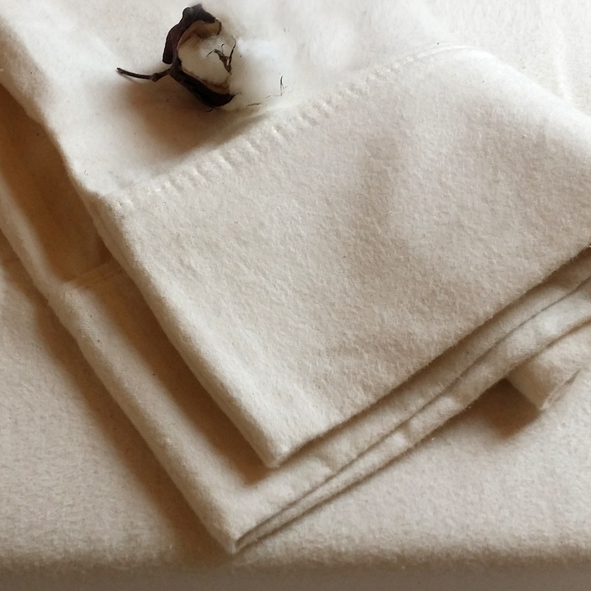 FLANNEL Organic Cotton SHEET SET - Made in the USA