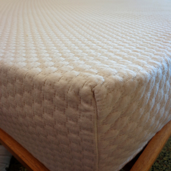Pebble Pique Organic Cotton Stretch Knit Mattress Protector -Best Seller!
