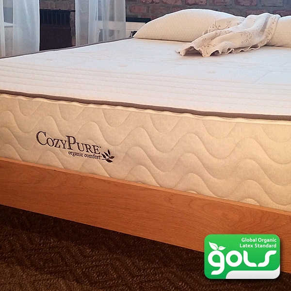 "10"" Organic Comfort zone Mattress- made with 100% Organic Zoned Latex"