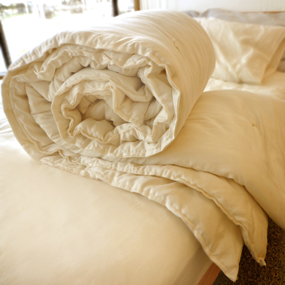 CozyPure Hand-Tied Wool Comforter - Best Seller!